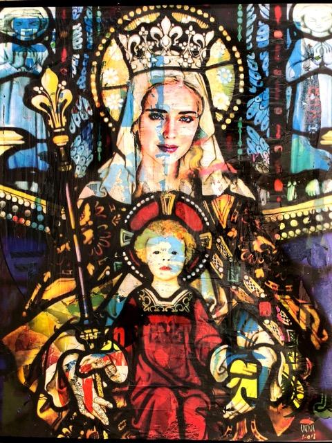 I quadri di Fedez e Ferragni di Chisesi esposti a Napoli