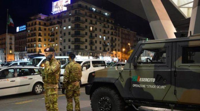 Controlli anti-Covid, in arrivo 100 militari in Campania