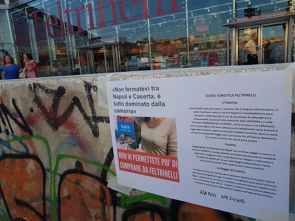 Napoli, manifesti contro la discussa guida turistica Feltrinelli