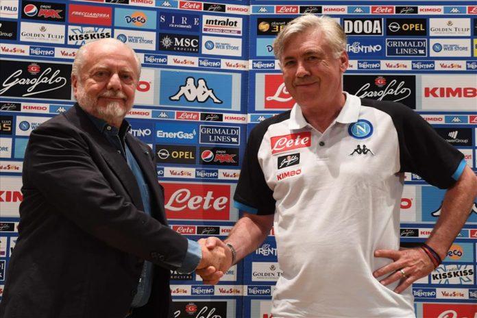 """Calcio Napoli, parla De Laurentiis: """"Date tempo ad Ancelotti"""""""