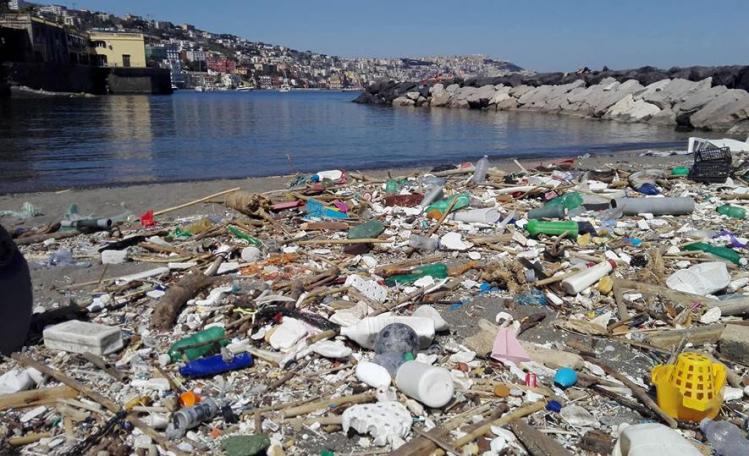 A Posillipo i volontari di Greenpeace hanno ripulito la baia di Riva Fiorita