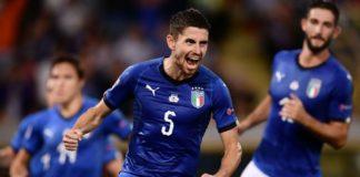 Italia-Polonia 1-1, Jorginho su rigore replica a Zielinski