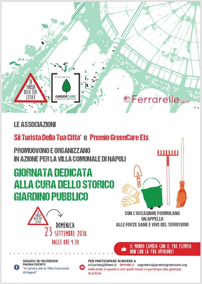 Napoli, Villa Comunale: cittadini si attivano contro il degrado