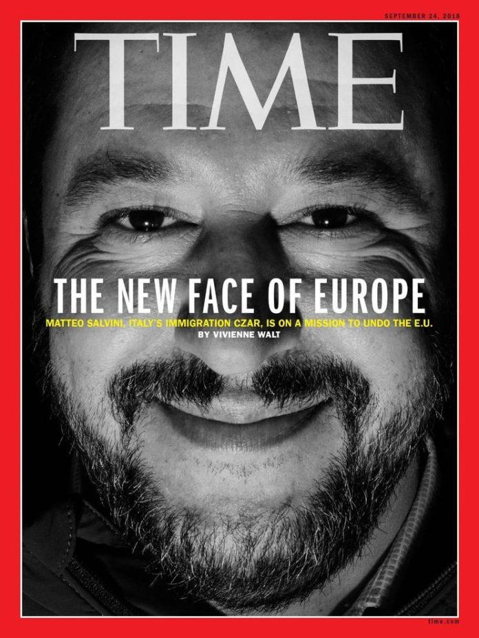 Salvini sulla copertina di Time come
