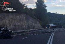 Avellino, grave incidente stradale a Caposele. Due feriti, chiusa la SS 691