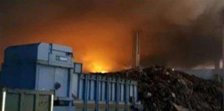 Marcianise, in fiamme deposito di rifiuti sequestrato pochi giorni fa