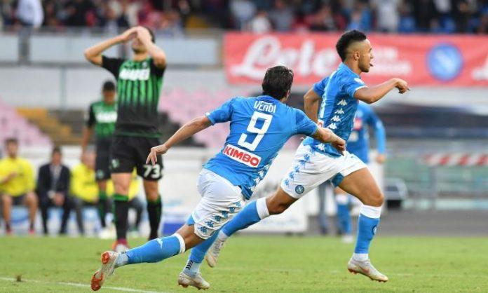 Calcio Napoli, Ounas ed Insigne piegano il Sassuolo