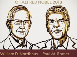Premio Nobel per l'economia a William D. Nordhaus e Paul M. Romer