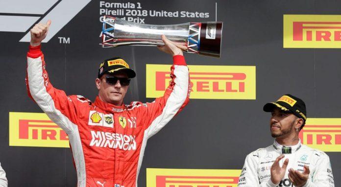Formula 1, Raikkonen vince GP USA: festa rimandata per Hamilton