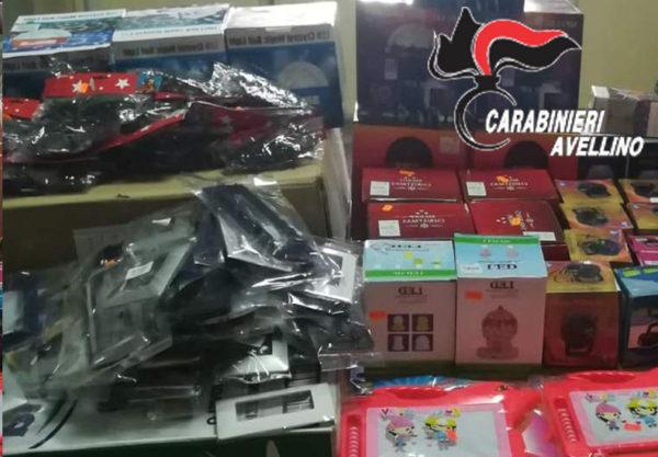 Avellino, sequestrati prodotti natalizi cinesi pericolosi