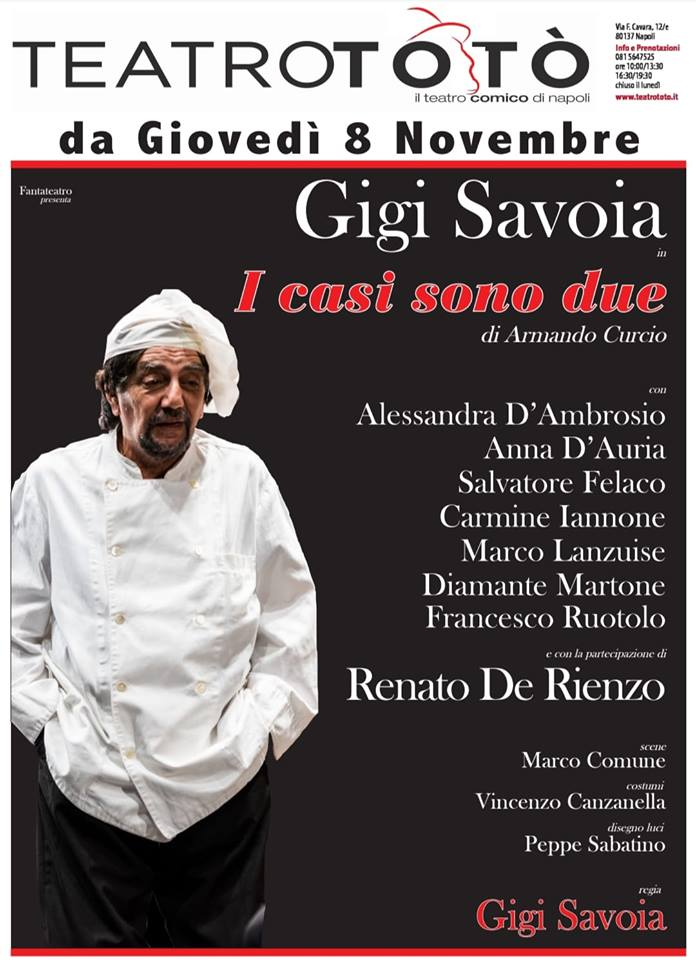 Al Teatro Totò in scena Gigi Savoia con la commedia 'I casi sono due'