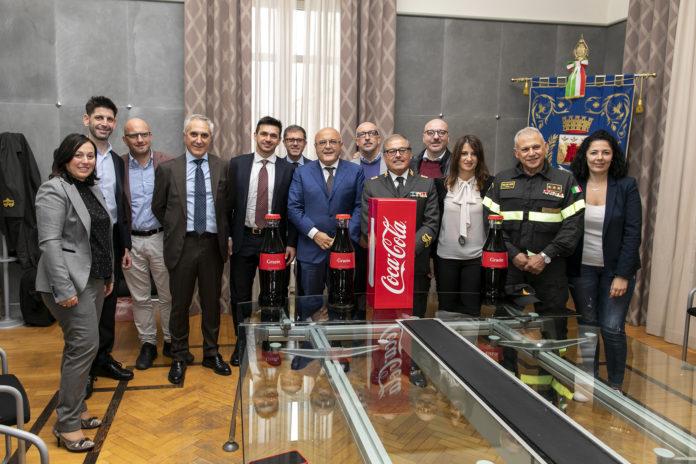 Coca-Cola HBC Italia incontra il Comune di Marcianise e i Vigili del Fuoco