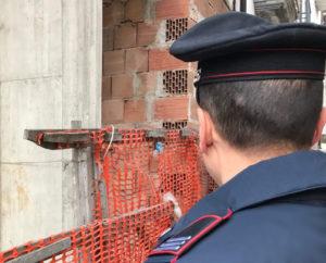 Montella, tre denunce in un cantiere edile da parte dei carabinieri
