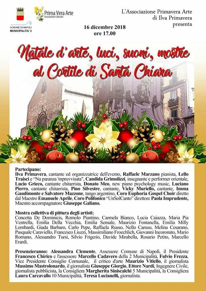"""L'Associazione Primavera Arte presenta l'evento """"Natale d'arte, luci, suoni, mostre"""""""