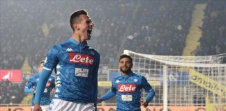 Calcio Napoli, stoccata di Milik e battaglia vinta a Bergamo
