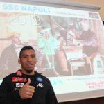Calcio Napoli Allan alla presentazione del calendario ufficiale