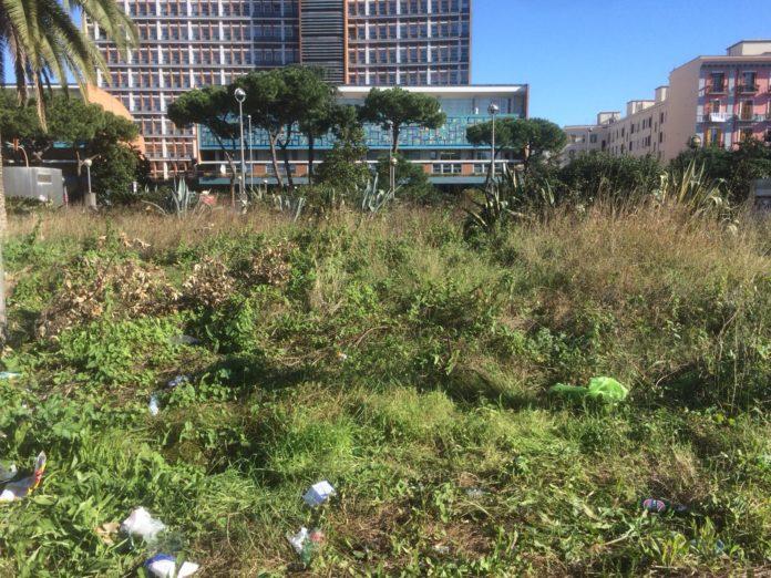 Napoli, Fuorigrotta: i cittadini si attivano per la pulizia di Piazzale Tecchio