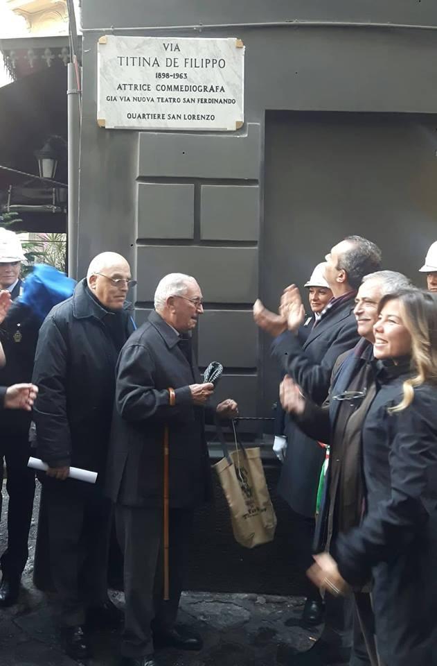 Cerimonia di intitolazione strada all'attrice e commediografa Titina De Filippo