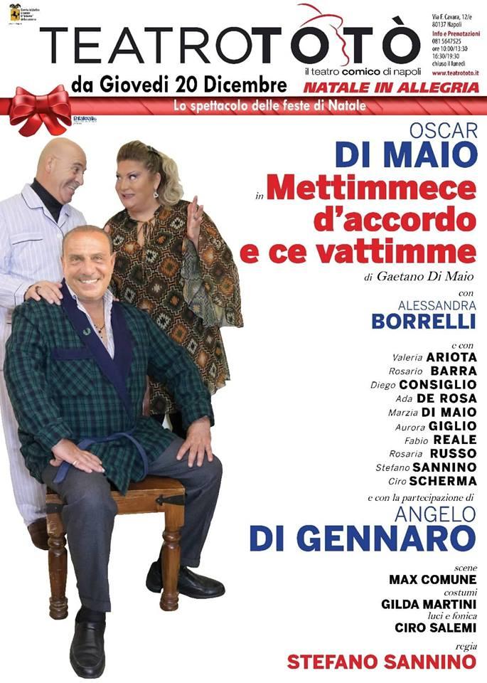"""Oscar Di Maio al Teatro Totò in scena con """"Mettimmece d'accordo e ce vattimme"""""""