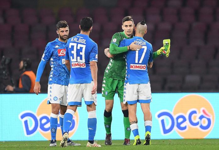 Napoli-Spal 1-0: Albiol sblocca, Meret blinda i 3 punti