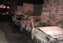 Valle Caudina, doppio rogo: in fiamme due auto e un container