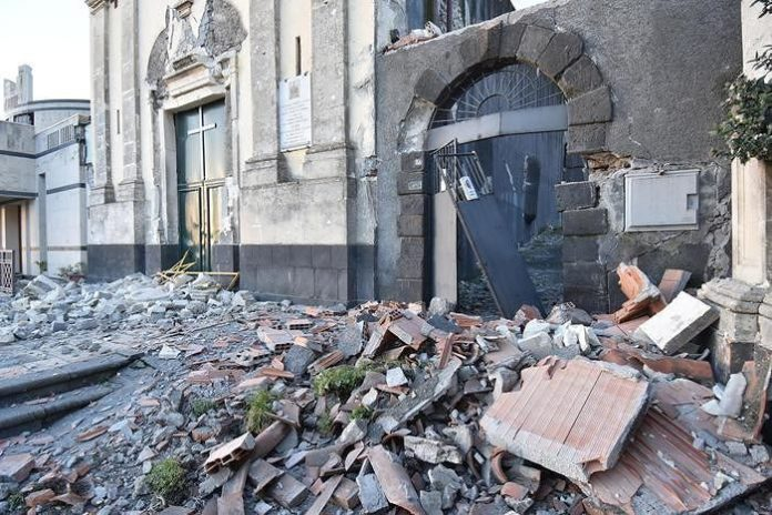 Terremoto a Catania: 370 sfollati sono stati ospitati in albergo