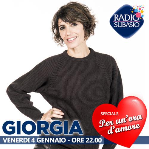 Radio Subasio: Giorgia ospite a Speciale Per Un'Ora d'Amore