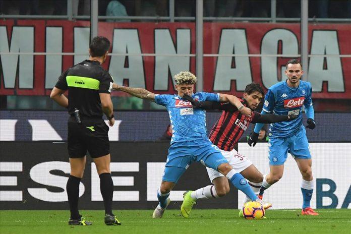 Calcio Napoli, il Milan blocca gli azzurri sullo 0-0