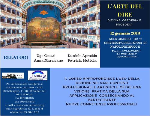 Al Policlinico di Napoli 'L'Arte del dire': la voce e le sue potenzialità