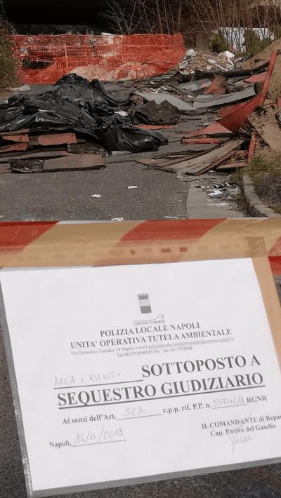 Ponticelli: amianto nella maxi discarica sequestrata in via Argine