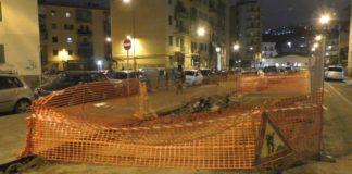 Napoli, Fuorigrotta: si è aperta una voragine in via Lepanto