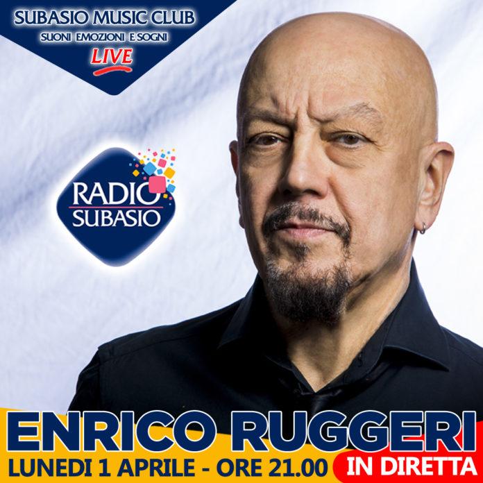 ARadio Subasioil cantautoreEnrico Ruggeriin un live acusticocon 40 fan