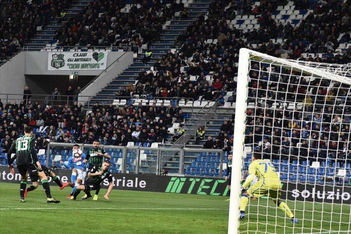 Calcio Napoli, 1-1 col Sassuolo. Squadra distratta e svogliata