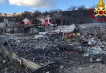 Gesualdo, esplode una fabbrica di fuochi d'artificio: morto il titolare