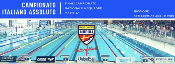 Nuoto: Gli atleti del Circolo Canottieri Napoli ai Campionati Italiani assoluti