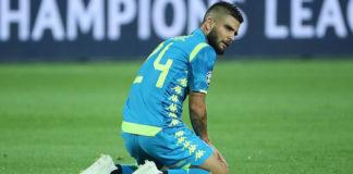 Calcio Napoli, affaticamento muscolare per Insigne