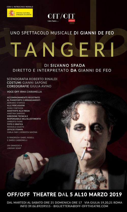 Gianni De Feo all'Off Off Theatre di Roma con il musical 'Tangeri'