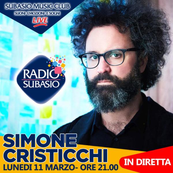 Simone Cristicchi con musica dal vivo a Radio Subasio Music Club