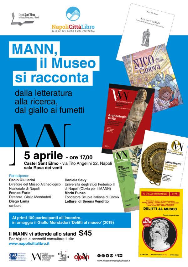 """Il Mann, sarà presente al Salone """"Napoli Città Libro"""" a Castel dell'Ovo"""