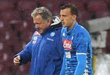 Calcio Napoli, Chiriches dovrà operarsi alla spalla la prossima settimana