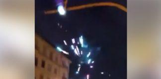 Fuochi d'artificio a Poggioreale per chi esce da carcere (VIDEO)