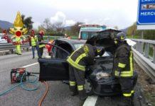 Mercogliano, incidente sulla A16 Napoli-Canosa: 5 feriti (di cui 2 gravi)