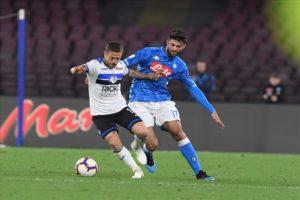 Calcio Napoli, azzurri in caduta libera. LCalcio Napoli, azzurri in caduta libera. L'Atalanta vince al San Paolo