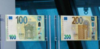 Euro: alla fine di maggio arriveranno le nuove banconote da 100 e 200
