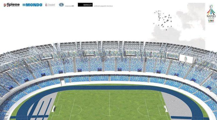 Stadio San Paolo, ecco il suo nuovo volto: 5 colori con dominanza di azzurro