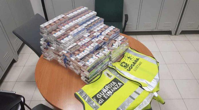 Capodichino, fermati 5 russi con 90 kg di sigarette di contrabbando