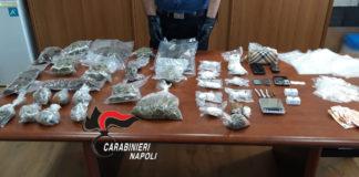 Afragola: Arrestato 43enne, nascondeva 2 chili e mezzo di droghe in casa