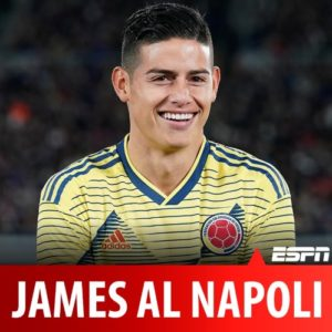 Calciomercato Napoli, ESPN Colombia conferma: gli azzurri hanno preso James Rodriguez