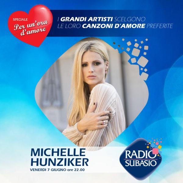 Radio Subasio: Michelle Hunziker a Speciale Per Un'Ora d'Amore