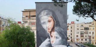 """Street Art, le opere dell'artista Gomez al Rione Luttazzi il quartiere de """"L'Amica Geniale"""""""